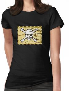 Skull Crack Stamp 2 Womens Fitted T-Shirt