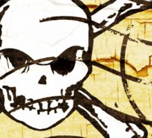Skull Crack Stamp 2 Sticker