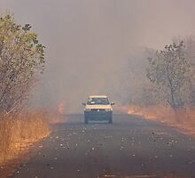Bush Fire in The Gambia by Sue Robinson
