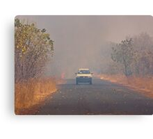 Bush Fire in The Gambia Canvas Print