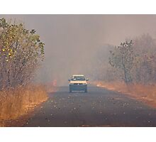 Bush Fire in The Gambia Photographic Print