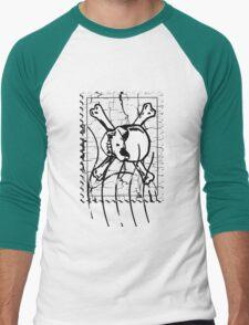 Skull Stamp Men's Baseball ¾ T-Shirt