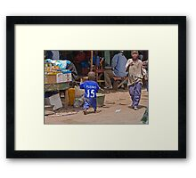 Young Chelsea Fan in The Gambia Framed Print