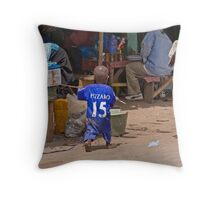 Young Chelsea Fan in The Gambia Throw Pillow