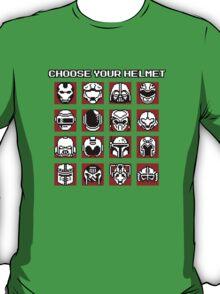 Choose Your Helmet (Red) T-Shirt