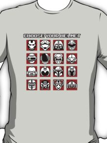 Choose Your Helmet (Red) T-Shirt
