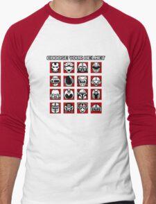 Choose Your Helmet (Red) Men's Baseball ¾ T-Shirt