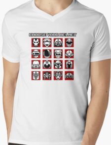 Choose Your Helmet (Red) Mens V-Neck T-Shirt