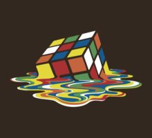 Melting Rubik's Cube - Transparent by r3ddi70r