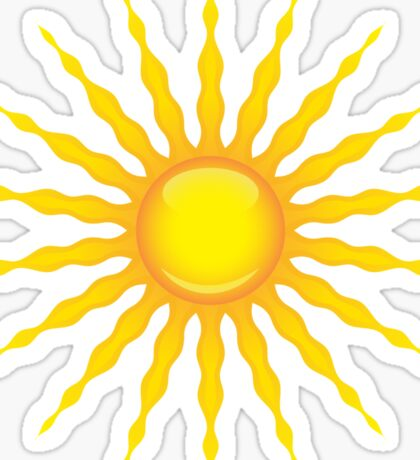 Sun with radiating rays Sticker