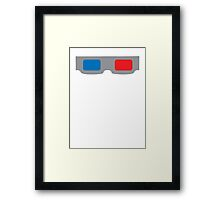 3d Glasses 1980s Cardboard Framed Print