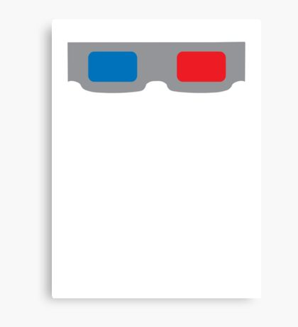 3d Glasses 1980s Cardboard Canvas Print