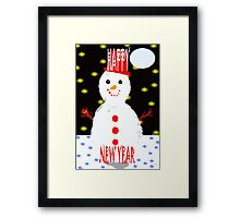 HAPPY NEW YEAR 87 Framed Print