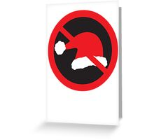 Ban Santa Christmas Sign Greeting Card