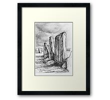 Beltany Stone Circle Framed Print