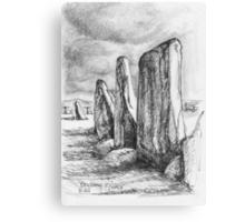 Beltany Stone Circle Canvas Print