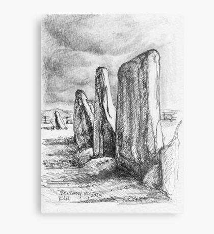 Beltany Stone Circle Metal Print