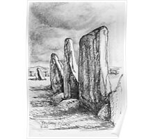 Beltany Stone Circle Poster