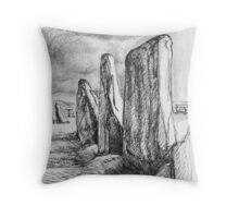 Beltany Stone Circle Throw Pillow