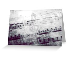 Music! Treble clef with Grunge Vintage Texture - DJ Retro Music Art Prints - iPhone and iPad Cases Greeting Card