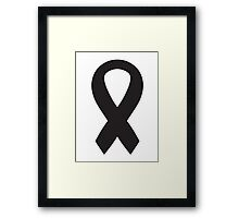 Black Bow Ribbon Framed Print