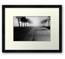 Pearly road Framed Print