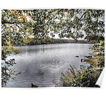 Autumn Reservoir Poster