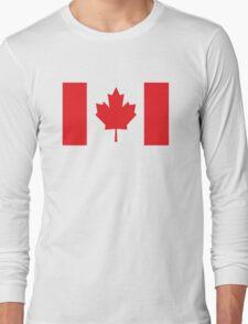 Canada Canadian Flag Maple Leaf Long Sleeve T-Shirt