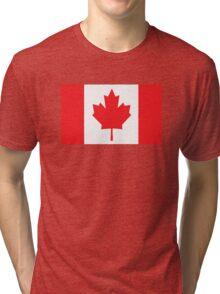 Canada Canadian Flag Maple Leaf Tri-blend T-Shirt