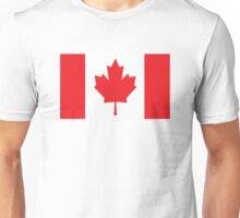 Canada Canadian Flag Maple Leaf Unisex T-Shirt