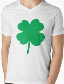 Irish Clover Four Leaf Mens V-Neck T-Shirt