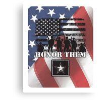Honor Them-Army Canvas Print