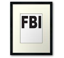 FBI Legend Framed Print