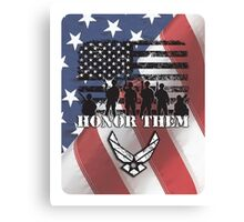 Honor Them-Air Force Canvas Print