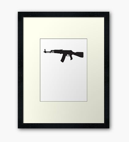 Machine Gun Rifle Framed Print
