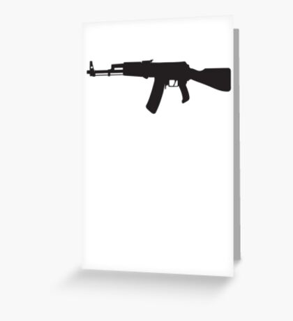 Machine Gun Rifle Greeting Card