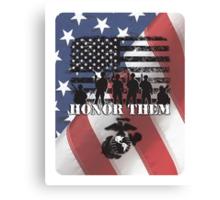 Honor Them-Marines Canvas Print