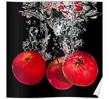 Splashing apples Poster
