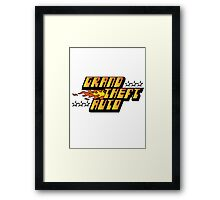 Grand Theft Auto (First, Original Logo) Framed Print