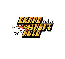 Grand Theft Auto (First, Original Logo) Photographic Print