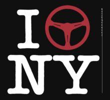I Drive NY - White Text Kids Clothes