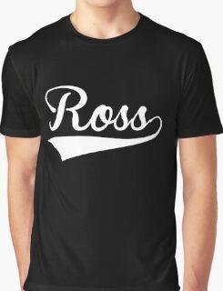 Baseball Style Ross (White) Graphic T-Shirt
