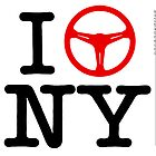 I Drive NY - Black Text by uncannydrive