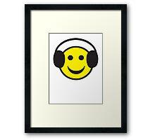 Rave Smily Headphones Framed Print
