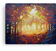 Autumn trees landscape Canvas Print