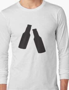 Two Beer Bottles Long Sleeve T-Shirt