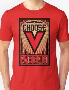Choose Vegan ~ Propaganda Poster T-Shirt