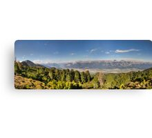 Walking along the Zirbenweg - A PanoramicView Canvas Print