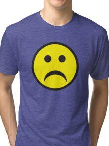 Unsmiley Acid House Sad Face Tri-blend T-Shirt