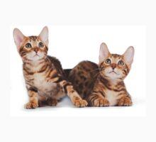 Striped red kitten Bengal cat Kids Tee